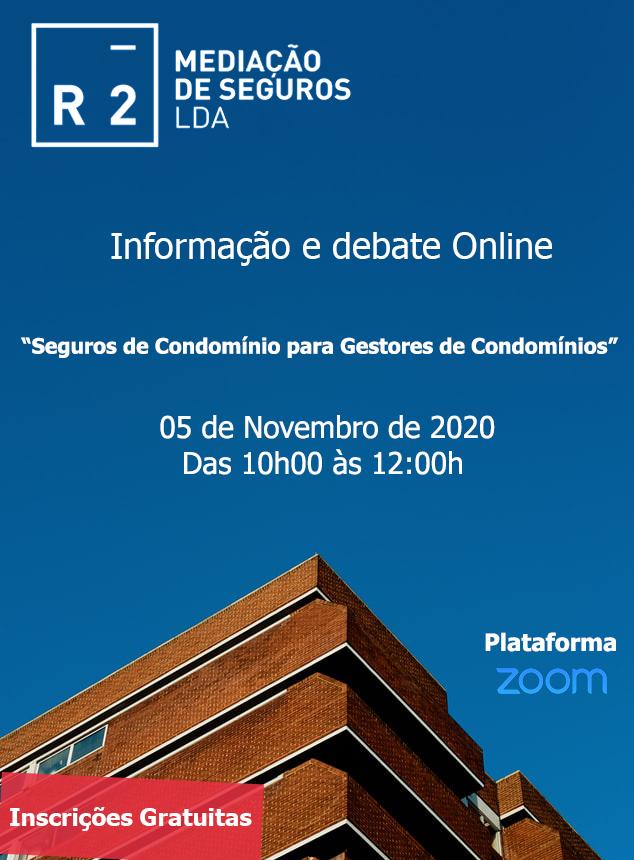 """6a Informação e Debate Online """" Seguros de Condomínio para Gestores de Condomínios"""""""